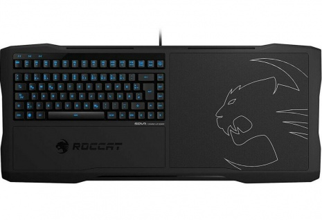 Roccat Sova Gaming Lapboard Tastatur Maus-Pad USB DE Layout Keyboard Mouse LED