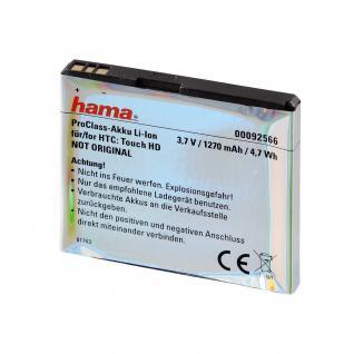 Hama ProClass Li-Ion Akku für HTC BA-S340 Touch HD HD1 T8282 Blackstone BLAC-160 - Vorschau 2
