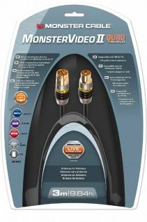 Monster HQ 3m Antennen-Kabel Digital Koaxial-Kabel Koax-Kabel UHD-TV HD-TV