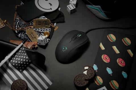 Mionix Gaming + Artists Maus Castor Black Optisch USB PC Mouse Native 5000 DPI