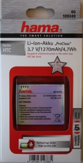 Hama ProClass Akku für HTC BA-S410 Desire Nexus One Bravo G5 Google A8181 A8183
