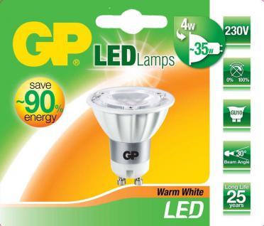 GP LED Strahler GU10 4W / 35W Warmweiß 2700K Lampe Birne Leuchtmittel Reflektor