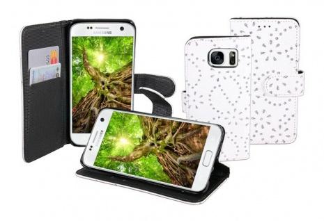 Patona Slim Flip Book-style Tasche Klapp-Etui Schutz-Hülle für Samsung Galaxy S7