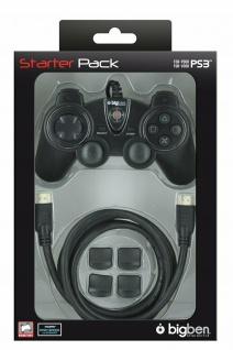 Bigben Starter Pack Controller Game-Pad Trigger HDMI-Kabel für Sony PS3 Konsole