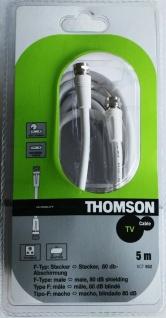 Thomson 5m Sat-Kabel F-Typ F-Stecker Antennen-Kabel 80db Koaxial-Kabel weiß