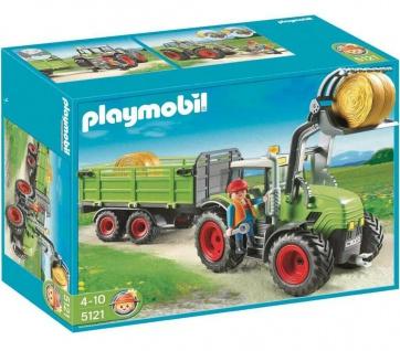 Playmobil 5121 Riesen-Traktor mit Anhänger für Bauernhof Country Fahrzeug Figur