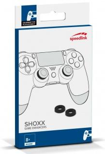 8 SHOXX Game Enhancer Stoß-Dämpfer Thumb-Stick Ringe für Sony PS4 PS5 Controller