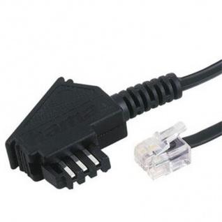 Hama 6m Telefon-Kabel Anschluss-Kabel TAE-F-Stecker Modular 6p4c RJ11 TAE-Dose