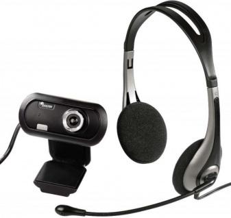 Hama PACK Headset + USB HD Webcam EX2 720p Kamera Cam Kopfhörer Chat Notebook PC