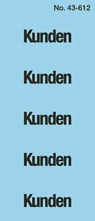 Avery Zweckform 100x Ordner-Inhaltsschild Kunden Etiketten Ordner Inhalts-Schild