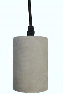 Design Beton grau Pendel-Leuchte Hängeleuchte Lampe Loft-Style clean gerade E27