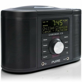 Pure Chronos 2 CD Digital-Radio DAB UKW Wecker Kompakt-Anlage All-in-One System
