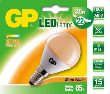 GP LED Mini Birne E14 3, 5W/22W Extra Warmweiß 2200K Lampe Glühbirne Leuchtmittel