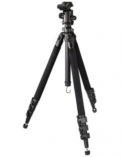 Hama Dreibein-Stativ Omega Carbon II 174cm Ball 3D Kamera-Stativ Foto-Stativ
