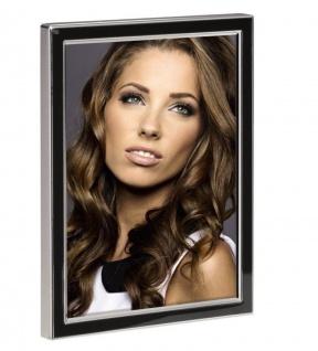 Hama Portraitrahmen Metall schwarz 13x18cm Portrait Bilder-Rahmen Foto Porträt