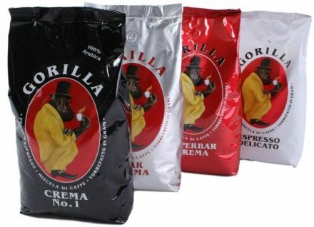 Gorilla Kaffee Espresso 1.000g Bohnen verschiedene Sorten Premium 1kg