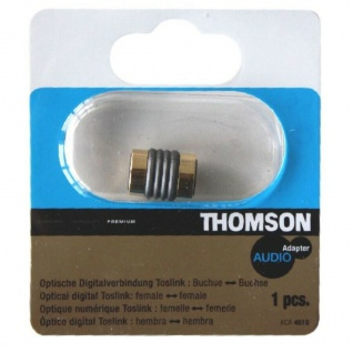 Thomson Toslink-Adapter Verbinder Toslink-Kabel GOLD Buchse Kupplung Optisch LWL