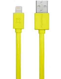 XtremeMac HQ Flat Lightning-Kabel 1m Gelb für iPhone X 8 7 6 6s /Plus SE 5s 5 5c