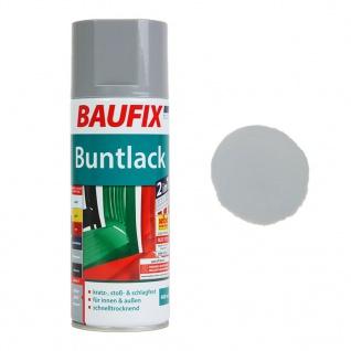Baufix Lack-Spray Grau Glanz 400ml Sprüh-Dose Spray-Dose Sprüh-Lack Farb-Spray