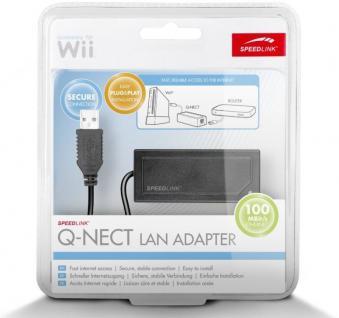 Speedlink Q-NECT USB LAN Adapter Netzwerk für Nintendo Wii U und Wii Konsole