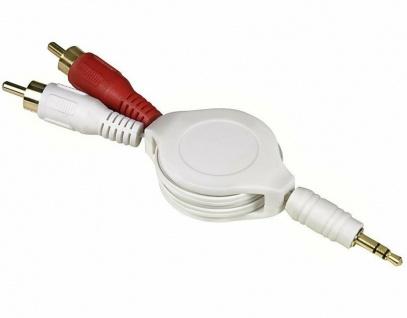 Hama Roll-Up Adapter-Kabel 3, 5mm Klinke - Cinch-Stecker für iPod MP3 Player etc