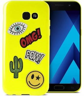Puro TPU Cover Patch-Mania + 5 Aufkleber Schutz-Hülle für Samsung Galaxy A5 2017