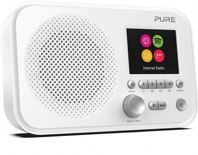 """Pure Elan IR3 Internet-Radio Küchen-Radio Digital Spotify 2, 8"""" Display Akku-Fach"""