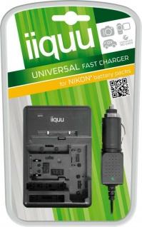 GP Akku Ladegerät + KFZ für Nikon universal EN-EL12 EL10 EL9 EL8 EL5 EL3e EL3 EL