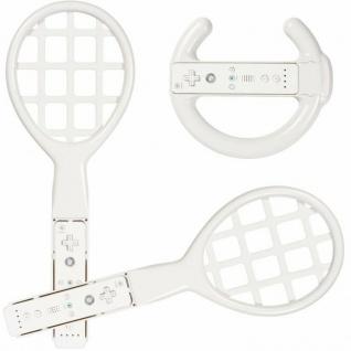 PACK Wheel Lenkrad + 2x Tennis-Schläger für Wii Wii-U Wiimote Controller Remote