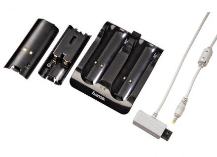 Hama Lade-Station + 2x Akku für Nintendo Wii Wii Remote Controller MP Dock Lader