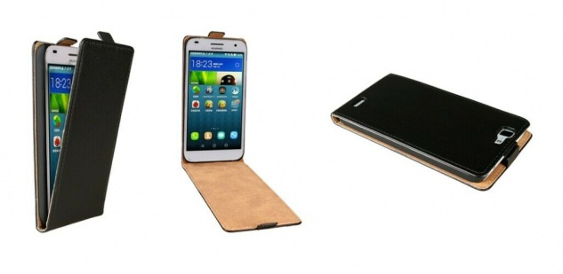 Patona Slim Flip-Cover Klapp-Tasche Schutz-Hülle Cover Case für Huawei Ascend G7