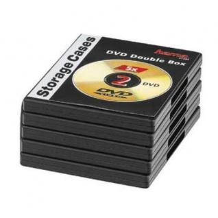 Hama 5x DVD-Hüllen für 2 DVDs 2er 2-Fach Leer-Hülle Box Case CD DVD Blu-Ray Disc - Vorschau 3