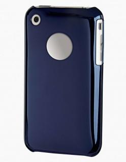 Hama Handy-Cover Chrom Blau Schutz-Hülle Case Tasche Bag für Apple iPhone 3G 3GS