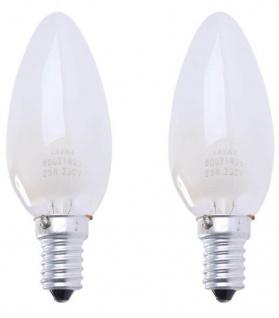 Hama 2x Glüh-Birne E14 25W Kerze Warm-Weiß Glüh-Lampe Glühbirne Leuchtmittel