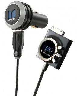 Monster iCar-Play Wireless FM Transmitter AUX KFZ PKW für Apple iPhone 4S 4 iPod
