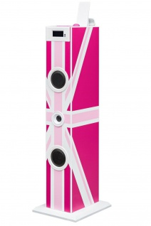 Bigben 2.1 Sound-Tower TW5 Party-Lautsprecher 3, 5mm AUX USB MP3 Mikrofon Radio