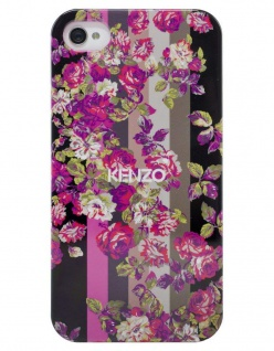 Kenzo Hardcase Kila Black Cover Schutz-Hülle Case Bumper für Apple iPhone 4s 4