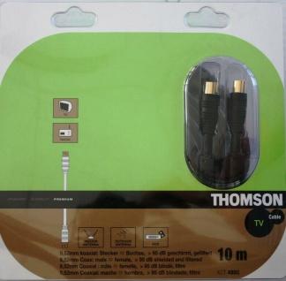 Thomson 10m Antennen-Kabel 95db 100Hz Koaxial-Kabel Koax schwarz für TV Sat Box