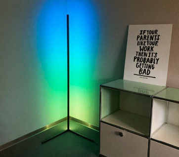 LED Design Steh-Lampe Stand-Leuchte Lichtsäule Ecklampe LED-Leiste dimmbar RGB