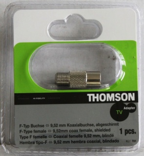 Thomson Adapter F-Buchse auf Koax-Kupplung F-Stecker Koaxial-Buchse Antenne