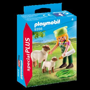 Playmobil 9356 Bäuerin mit Schäfchen Schäferin Bauernhof Lamm Spielzeug Figuren