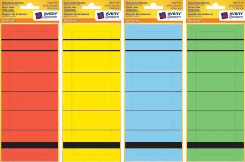 Avery Zweckform Ordner-Rücken A4 Breit Ordner-Etiketten Schilder Aufkleber Akten
