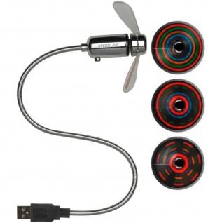 Speedlink Mini USB-Ventilator mit LED Licht Abkühlung Lüfter Tisch-Ventilator