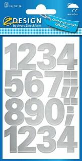 Avery Sticker Aufkleber Zahlen Nummern Kennzeichnungs-Etiketten Geschenk Karten