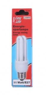 Hama Energiesparlampe 11W / 60W E27 Glüh-Birne Spar-Lampe Leuchtmittel 2700K