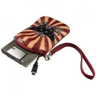 """Hama HDD Tasche Case 2, 5"""" Festplatte Flying Skull Cover Festplatten-Tasche Hülle"""