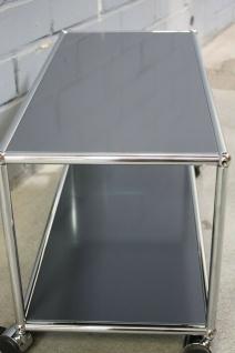 USM Haller Lowboard Regal Tisch Beistell-Tisch 75x35 anthrazitgrau Ablage - Vorschau 4