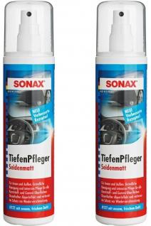 2x Sonax Tiefen-Pfleger 300ml Spray Matt Kunststoff-Pflege Reiniger Reinigung