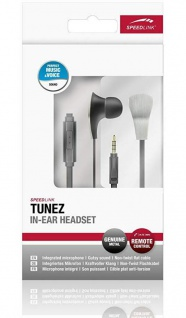 Speedlink Tunez In-Ear Headset Ohrhörer Kopfhörer Mikrofon Fernbedienung 3, 5mm