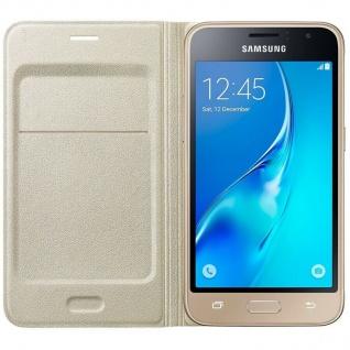 Original Samsung Flip-Cover Hard-Case Tasche Schutz-Hülle für Galaxy J1 (2016)